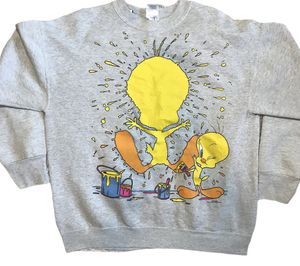 Vintage 1996 Freeze Looney Tunes Tweety Bird Sweatshirt USA Made Size Large for Sale in New Port Richey, FL