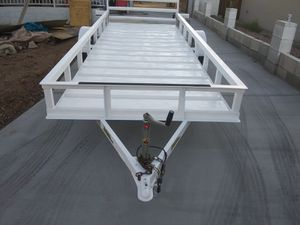 Trailer hauler zienman 14x5 utility drop ramp / clean az title for Sale in Glendale, AZ