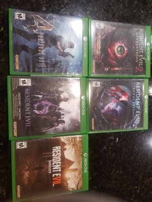 Xbox One Resident Evil Bundle 5 games for Sale in Menifee, CA