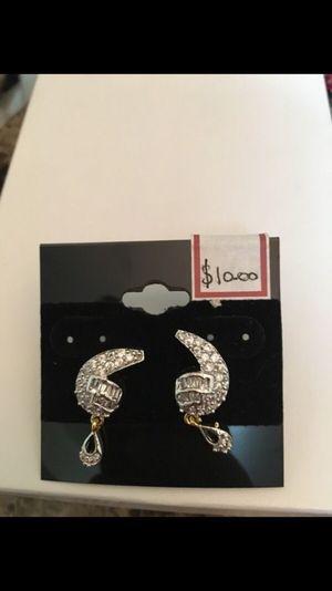 Brand new diamond look earings for Sale in Nashville, TN