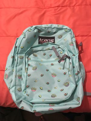 "Trans by Jansport ""it's an avocadooo"" back pack for Sale in San Dimas, CA"