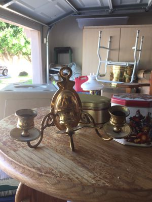 Candle holder brass for Sale in Tempe, AZ