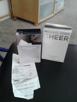 NEW MICHAEL KORS SHEER PERFUME 3.4 ozs. COST$123.12 SELL$85.00 FIRM IT'S A$38.00 DISCOUNT THIS IS NOT A TESTER BOTTLE PLEASE SEE PICTURES for Sale in Colton, CA