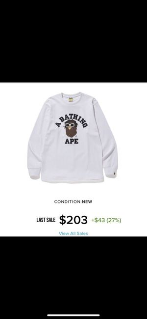 BAPE X WIZ KHALIFA LONG SLEEVE SIZE S for Sale in The Bronx, NY