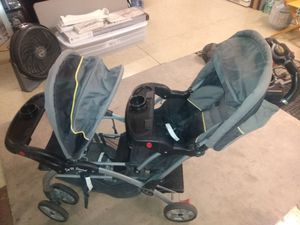 Baby Trend Sit N Stand Double Stroller for Sale in Las Vegas, NV