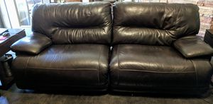 Leather Reclining Sofa and 2 oversized reclining chairs for Sale in Phoenix, AZ
