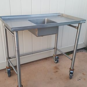 """STAINLESS STEEL SINK TABLE ( H:36"""" W:38"""" D:22"""") for Sale in Tampa, FL"""