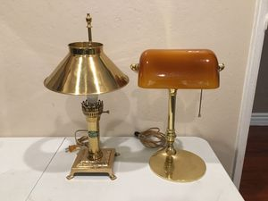 Vintage desk lamps with led bulbs classic glass France antique for Sale in San Jose, CA
