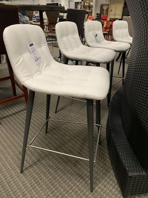 2pc leatherette white barstools. Retails for $289 for Sale in Alexandria, VA