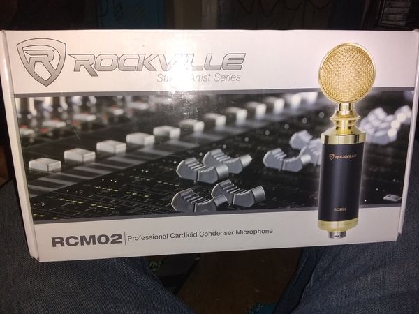 Rockville professional condenser microphone and Pro audio acoustic mic isolation sheild
