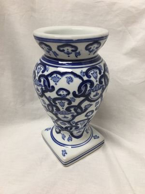 Blue & white Delft like ceramic pillar candle holder for Sale in El Mirage, AZ