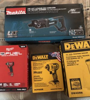 Power tools...Milwaukee,Dewalt, Makita for Sale in Austin, TX
