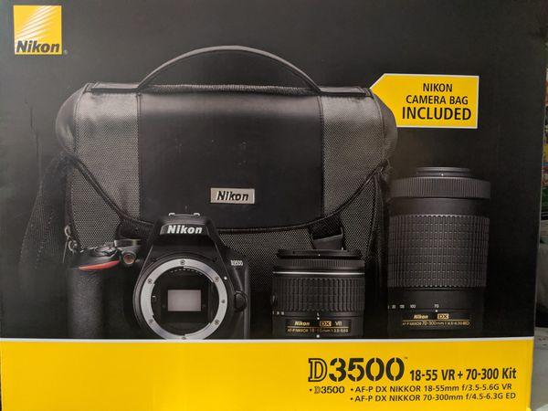 Nikon d3500 18-55 VR + 70-309 kit case included brand new
