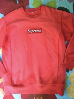 Supreme Red Box Logo Crewneck Size Large Worn for Sale in Franconia,  VA