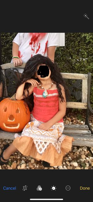Moana costume with wig and necklace for Sale in Oviedo, FL