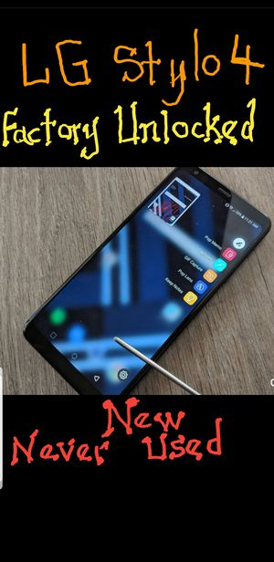 Unlocked lg stylo 4 new never used for Sale in Chicago, IL