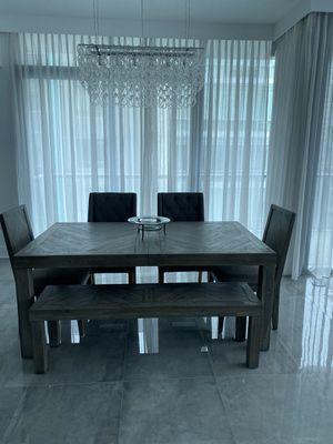 Farm-Style Herringbone Dining Table Set for Sale in Orlando, FL