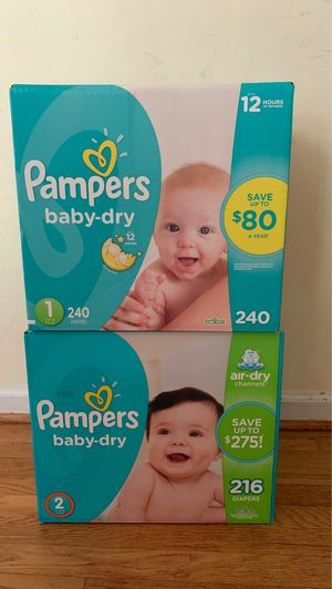 Pampers size 1&2 for Sale in Temple Hills, MD