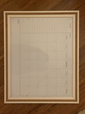 Whiteboard calendar for Sale in San Diego, CA