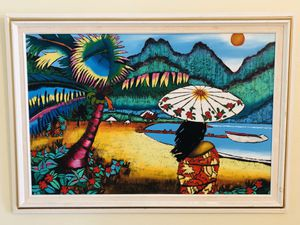 ORIGINAL PAINTING, OIL ON CANVAS, FRAMED TAHITIAN GAUGUIN INSPIRED! for Sale in Lutz, FL