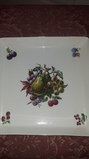 """Gorgeous Naaman Israel 1960s large porcelain fruit/cake tray. 10""""×10"""".Excellent condition. for Sale for sale  New York, NY"""