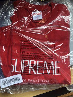 New/Never Worn Supreme Anno Domini Tee Red Medium for Sale in Altadena, CA