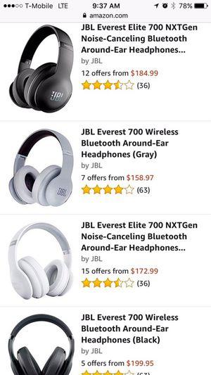 JBL elite Everest wireless headphones for Sale in Sterling, VA