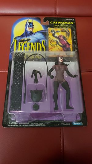New in Box...Legends of Batman Collectible Catwoman Figure and Toys with Official Collectors Card. for Sale in Kent, WA