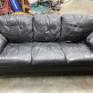Leather Couch And Recliner for Sale in Renton, WA