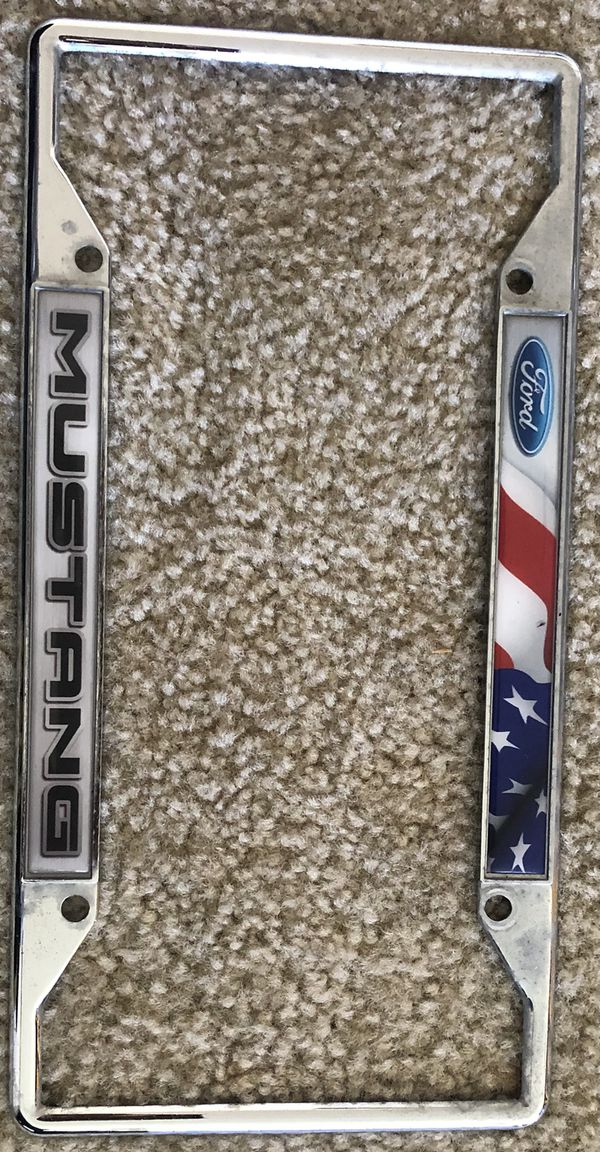 Mustang License Plate Frame, Mustang Accessories, Ford Mustang Accessories, Chrome License Plate Frame,Ford License Plate Frame,Ford Mustang Gifts,Li