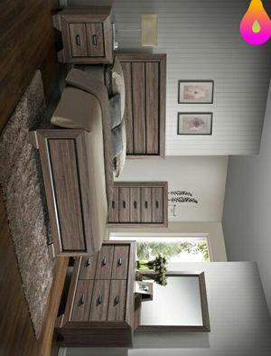 Farrow🕊️ Grayish Brown Panel Bedroom Set | B5500 juego de dormitorio for Sale in Killeen, TX
