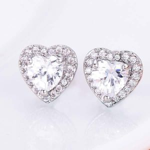 (FREE SHIPPING) Woman's Jewelry Brand New Heart Diamond Earrings Wedding Band for Sale in Fayetteville, NC