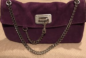 Vintage suede Michael Kors pretty purple purse with chain straps. for Sale in Silver Spring, MD