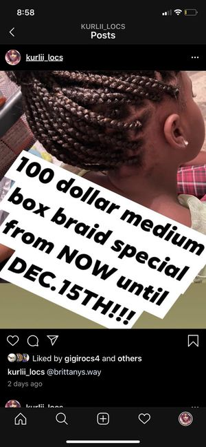 Box braid SPECIAL!!! for Sale in Portsmouth, VA
