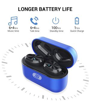 TWS Bluetooth 5.0 wireless earbuds headset SZSAGO W5s true wireless earphones for iPHONE/SAMSUNG IPX7 waterproof smart bluetooth headphones Headsets for Sale in Edison, NJ
