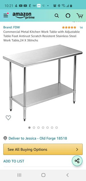 FDW Kitchen Work Table NIB for Sale in Woodstock, GA