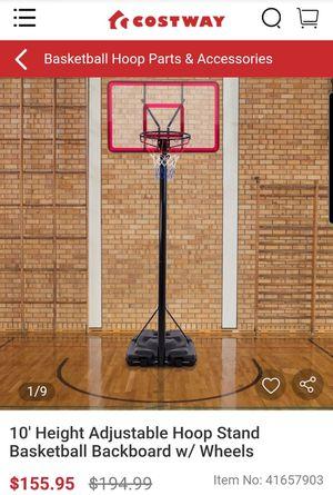 10' Adjustable hoop stand basketball Backboard for Sale in Upland, CA