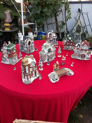 Christmas village $85 for Sale in Garden Grove, CA