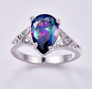 Rainbow Topaz/Amethyst Sterling Silver Ring Size 6 7 8 9 for Sale in Wichita, KS