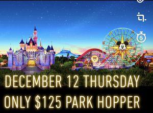 Disneyland park hopper 12/12/19 only for Sale in Whittier, CA