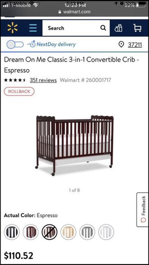 3 in 1 baby crib with bumper set in very good condition for Sale in Nashville, TN
