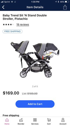 Double stroller and car seat for Sale in Capitol Heights, MD