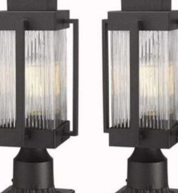 Outdoor Post Light Fixtures, 1-Light Exterior Posta 7 x 7 x 18 pulgadas*set of two* for Sale in Ontario,  CA