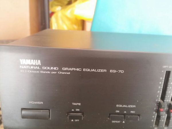 Yamaha natural sound graphic equalizer EQ70 Dual 10 Band Graphic Equalizer  for Sale in Diamond Bar, CA - OfferUp