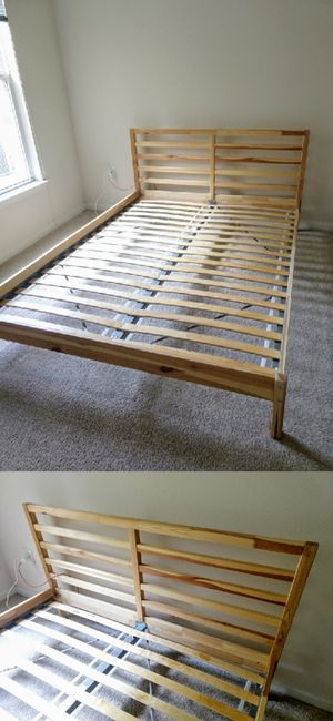 Queen-Size Wooden Ikea Tarva Bed Frame for Sale in Durham, NC