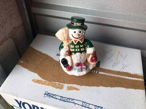 Ceramic snowman music box for Sale in Herndon, VA