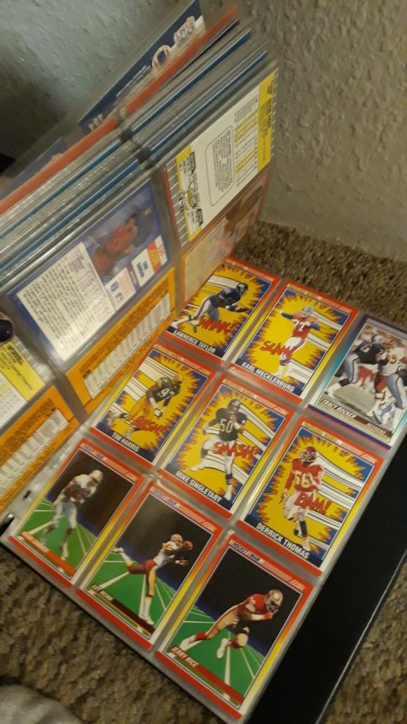 Collectors Football and baseball cards