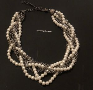 KJL silver & pearl statement necklace for Sale in Queens, NY
