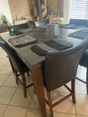 6chair table with matching coffee table, corner table and center table for Sale in Perris, CA