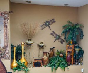 High end decor, tropical silk plants, candles for Sale in Tampa, FL